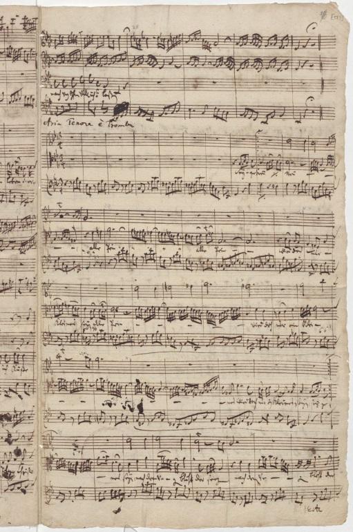 BWV 12. Партитура арии тенора