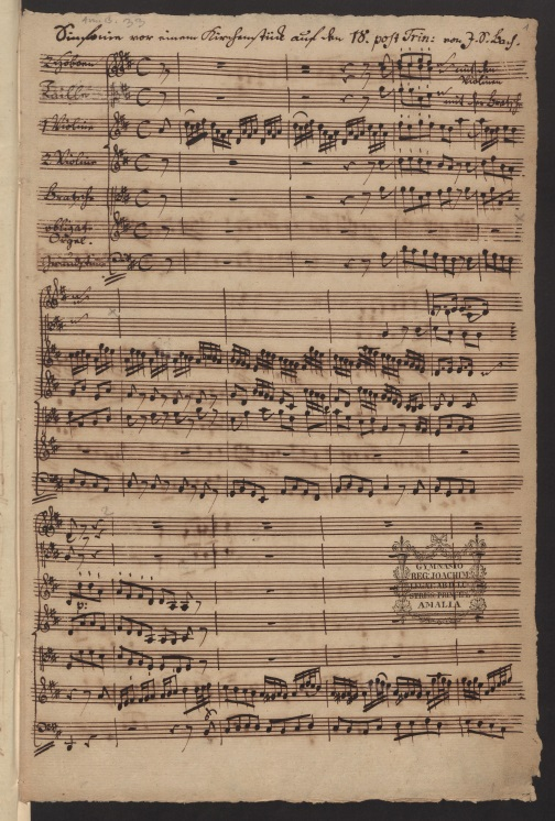BWV 169. No 1. Sinfonia