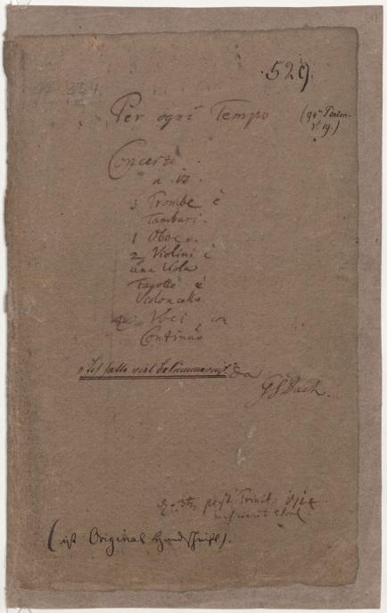 BWV 21. Титульный лист партитуры