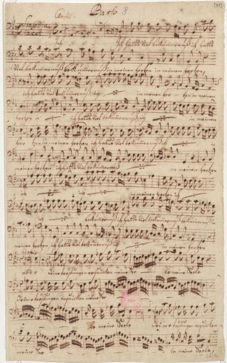 BWV 21. Диалог Души (сопрано) и Иисуса (бас). Партия баса