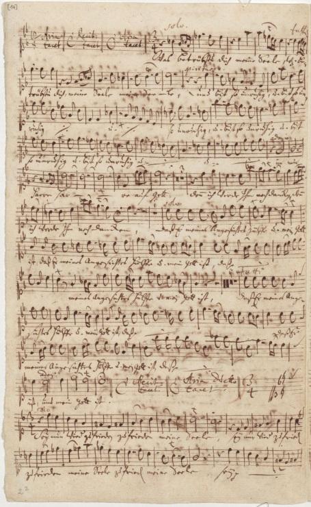 BWV 21. Ария (дуэт) Души (сопрано) и Иисуса (бас). Партия сопрано