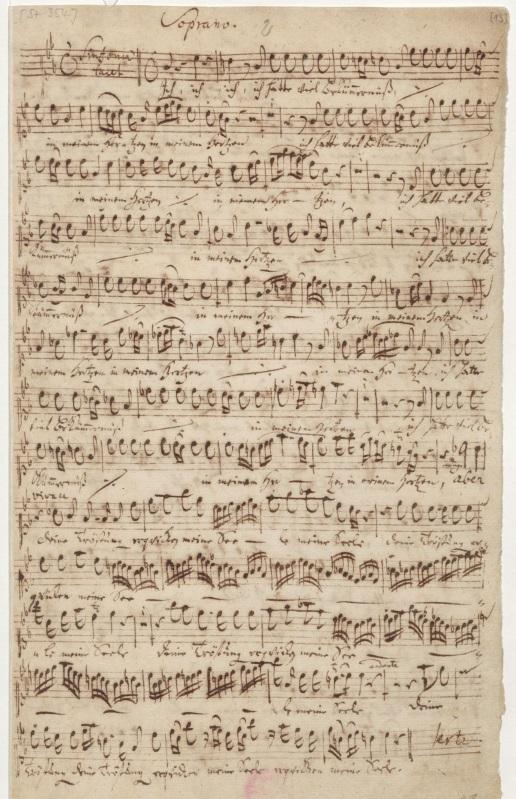 BWV 21. Партия сопрано. Ария