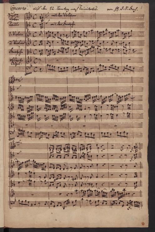BWV 35. No 1. Sinfonia