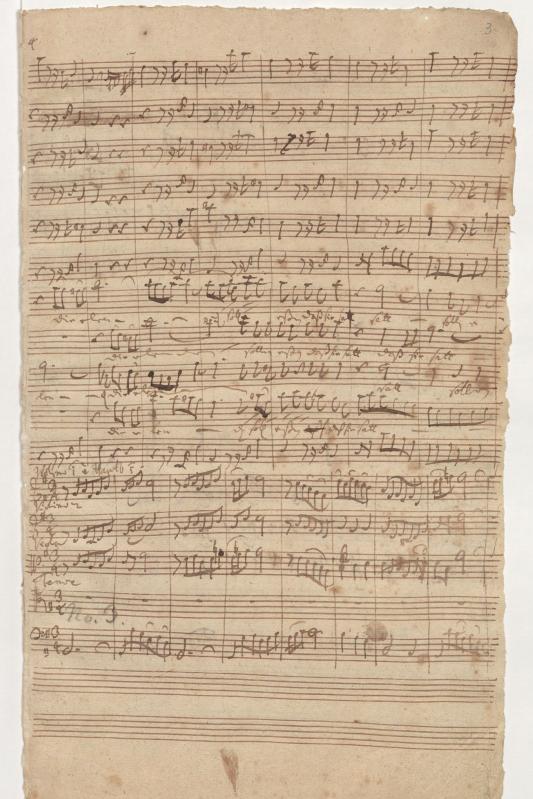 BWV 75. № 3. Ария тенора (в нижней части страницы)