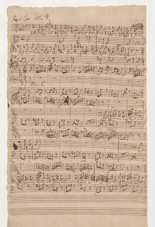 BWV 75. Речитатив тенора (№ 4) и Ария сопрано (№ 5)