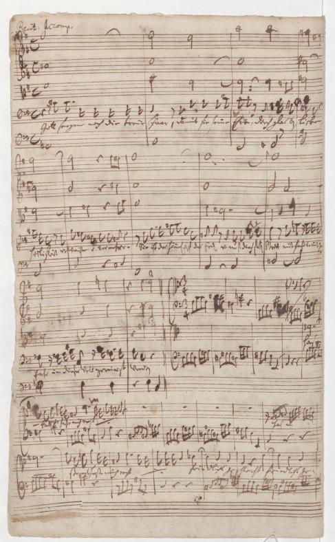 BWV 76. Ария тенора (№ 10, нижняя часть страницы)
