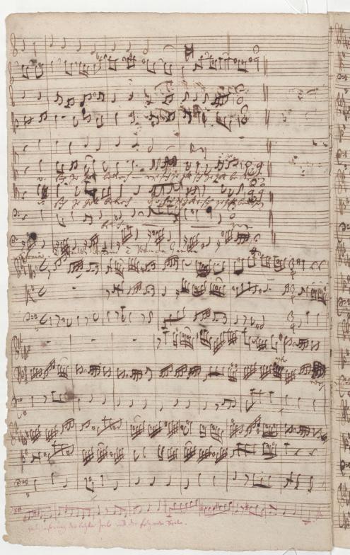 BWV 76. Симфония (№ 8, нижняя часть страницы)