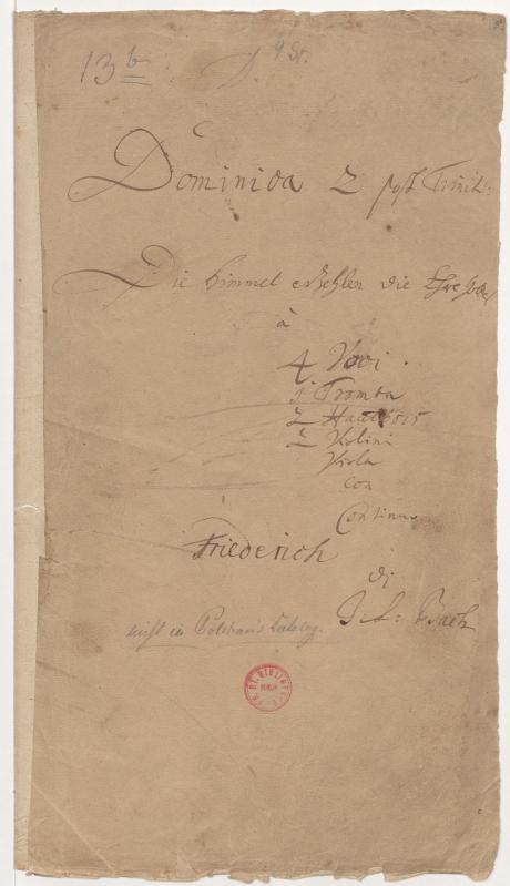 BWV 76. Титульный лист