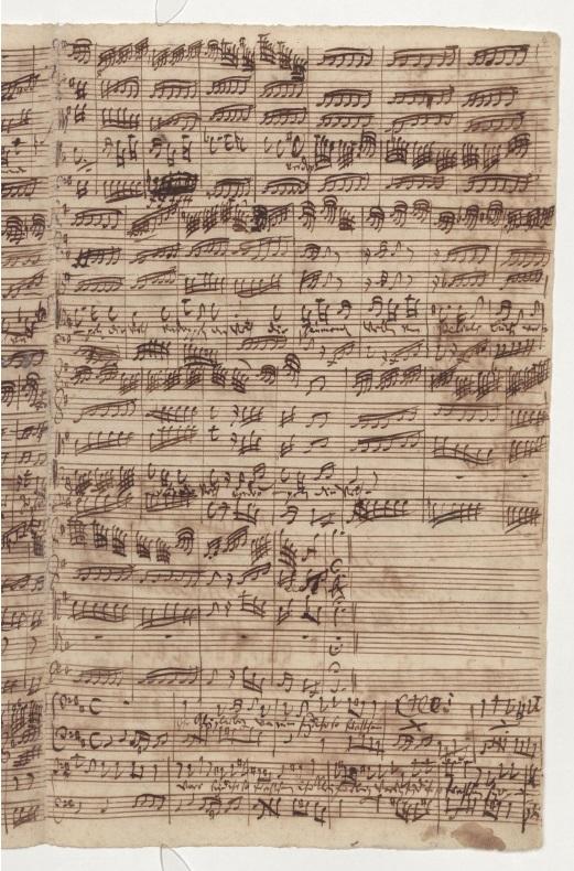 BWV 81. Нижняя часть страницы – начало Ариозо баса (№4)