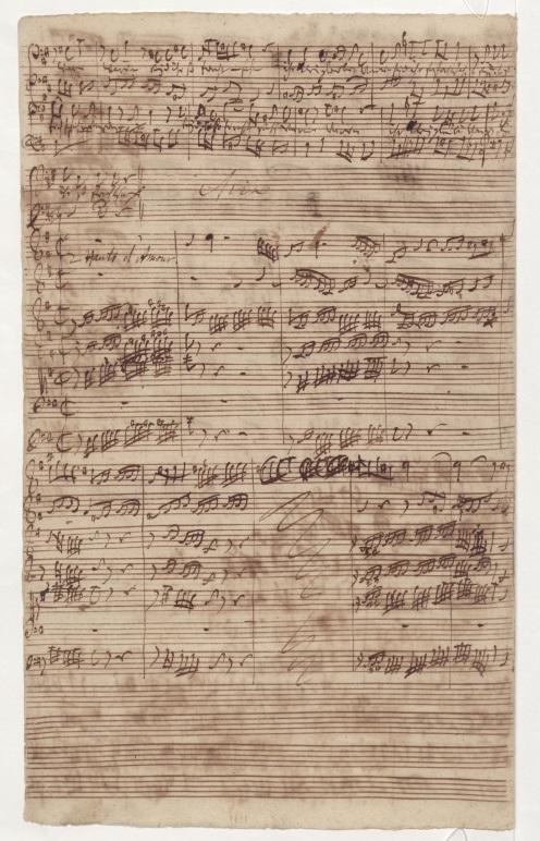 BWV 81. Та же страница, где Ариозо баса. По окончании ариозо - начало Арии баса
