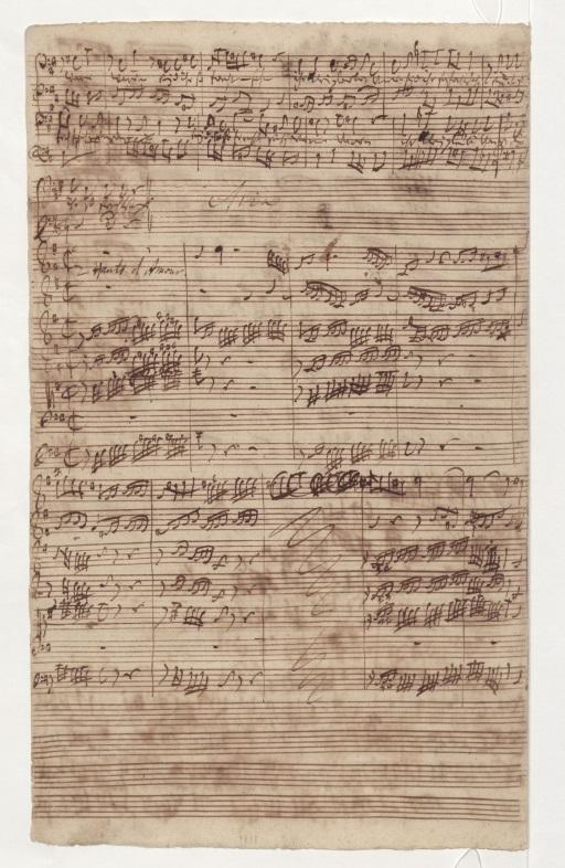 BWV 81. Верх страницы – конец Ариозо баса (№4)