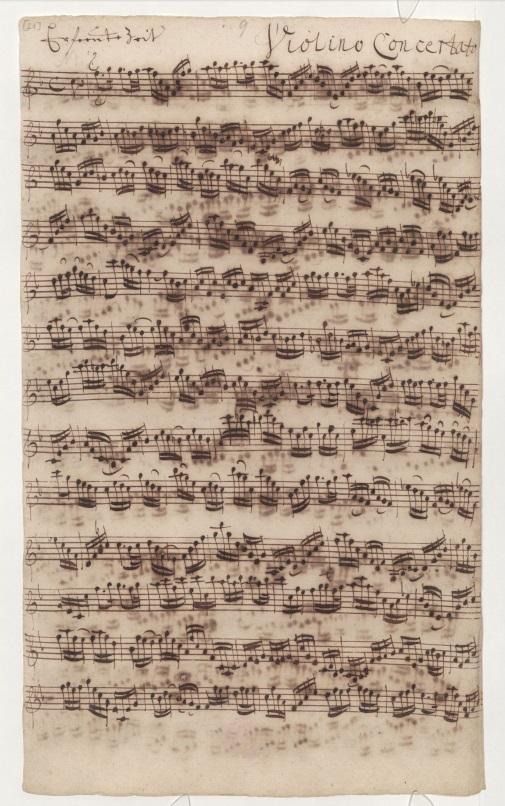 BWV 83. № 1. Ария. Партия концертирующей скрипки