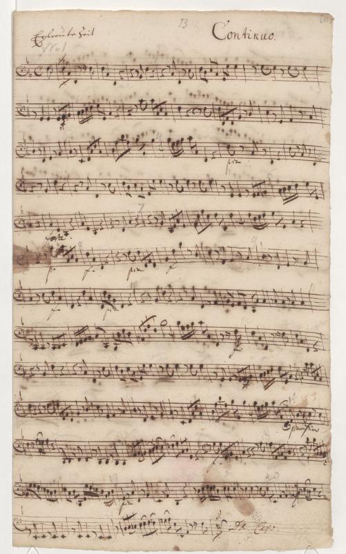 BWV 83. № 2. Basso continuo