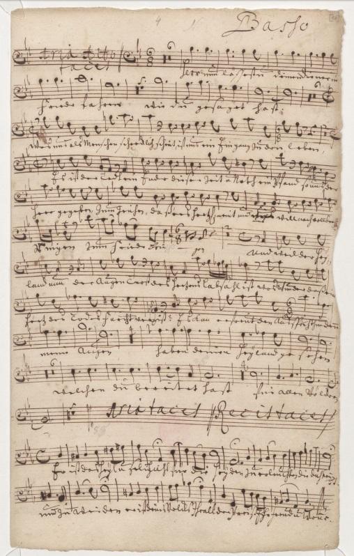BWV 83. № 2. Ныне отпущаеши и речитатив. Партия баса