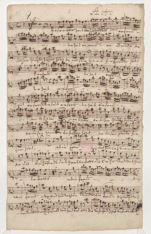 BWV 83. Ария (№1). Партия альта