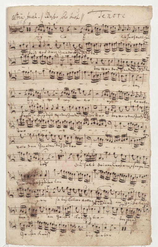 BWV 83. Ария (№ 3). Партия тенора