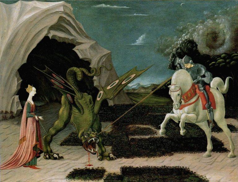 Битва Св. Георгия с драконом. 1458