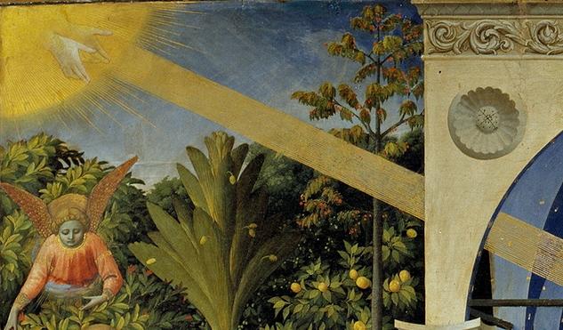 Благовещение Пресвятой Богородицы. Деталь (луч). 1430-1432