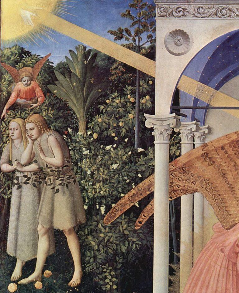 Благовещение Пресвятой Богородицы. Деталь (сад). 1430-1432
