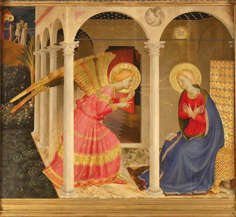Благовещение. Деталь. Между 1433 и 1434 гг.