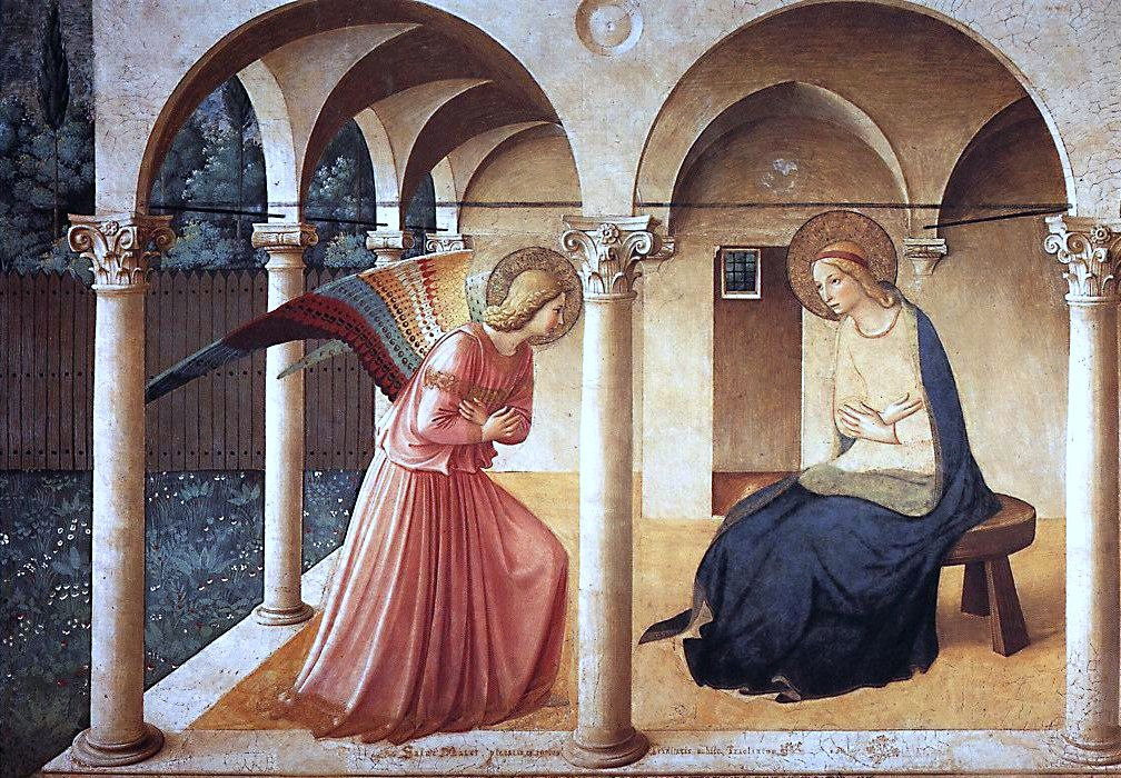 an analysis of the annunciation in the book of luke C 26 now in the sixth month [this is the passage from which we learn that john was six months older than jesus] the angel gabriel was sent from god unto a city of galilee, named nazareth [luke alone tells us where mary lived before the birth of jesus.
