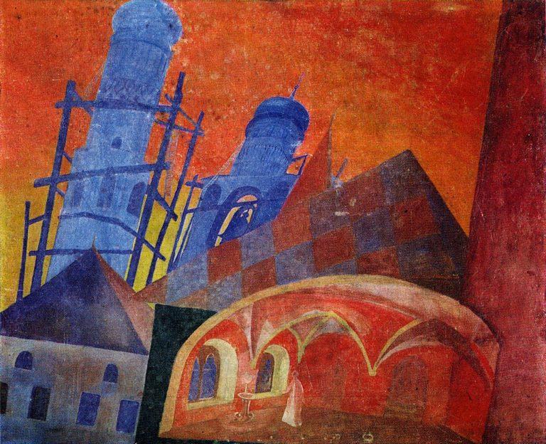 Эскиз декорации к опере М.П. Мусоргского «Борис Годунов» (1928)