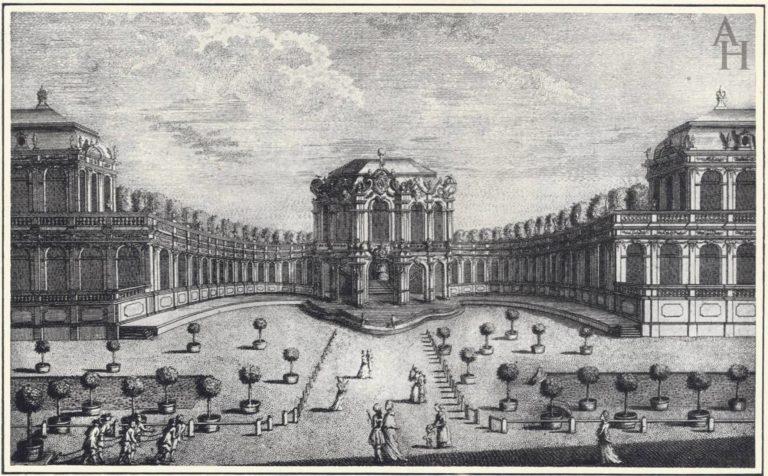 Дрезден, дворцово-парковый комплекс Цвингер