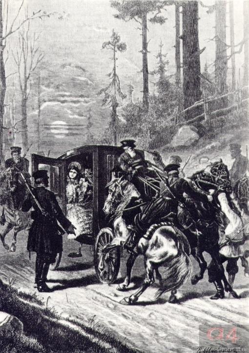 «Дубровский». Глава 18. Нападение на свадебный поезд.