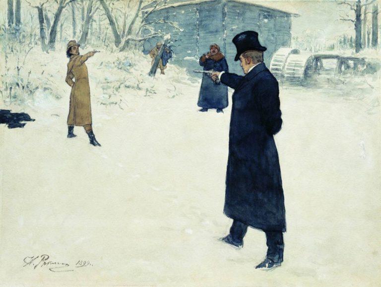 Дуэль Онегина и Ленского (1899)