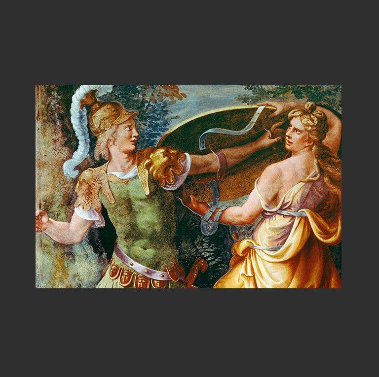 Фетида вручает доспехи Ахиллу