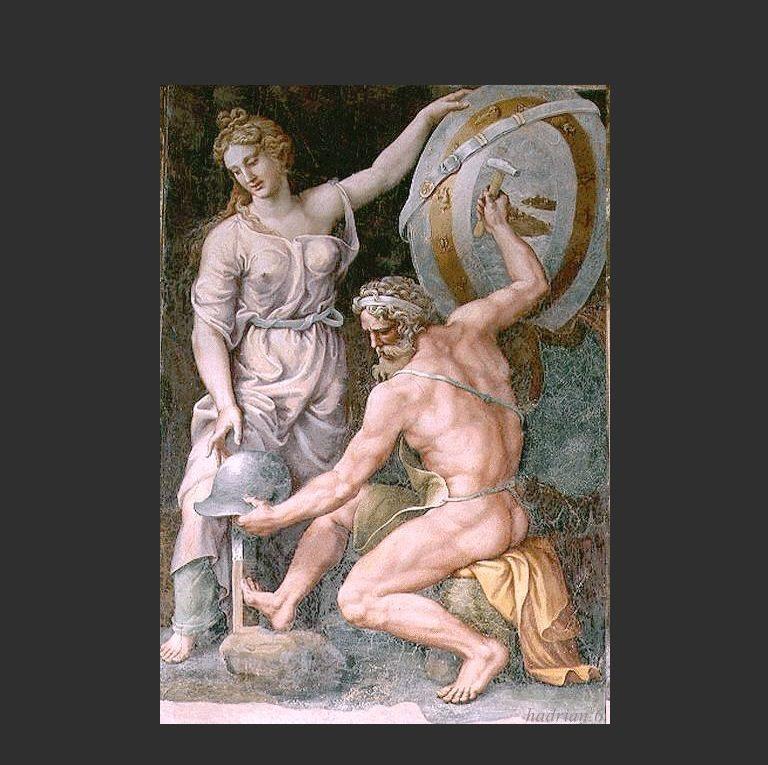 Гефест кует доспехи Ахилла