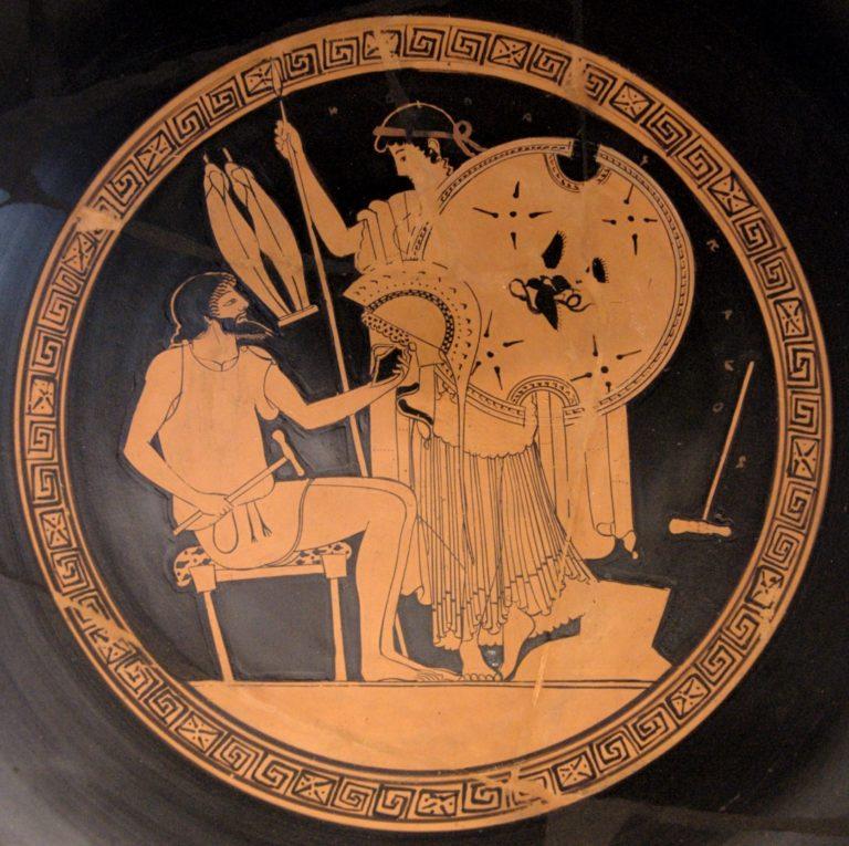 Гефест передает Фетиде оружие для Ахилла. 490-480 гг. до н.э.