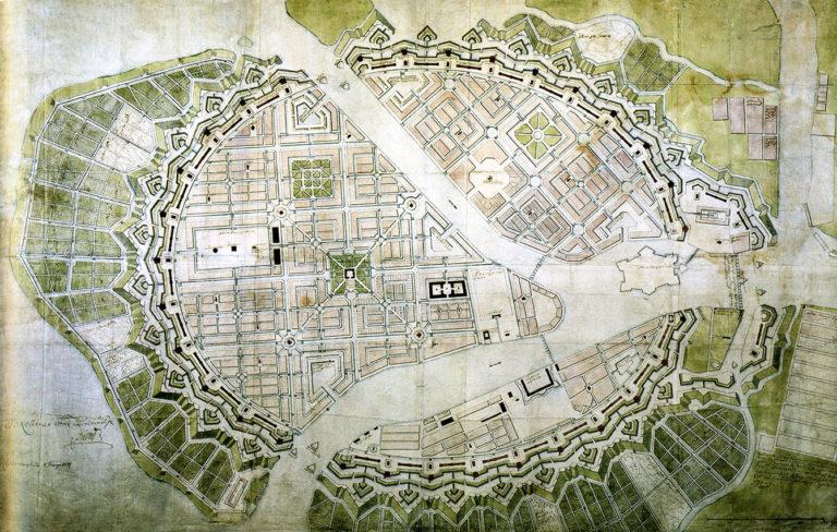 Генеральный план Санкт-Петербурга. 1717