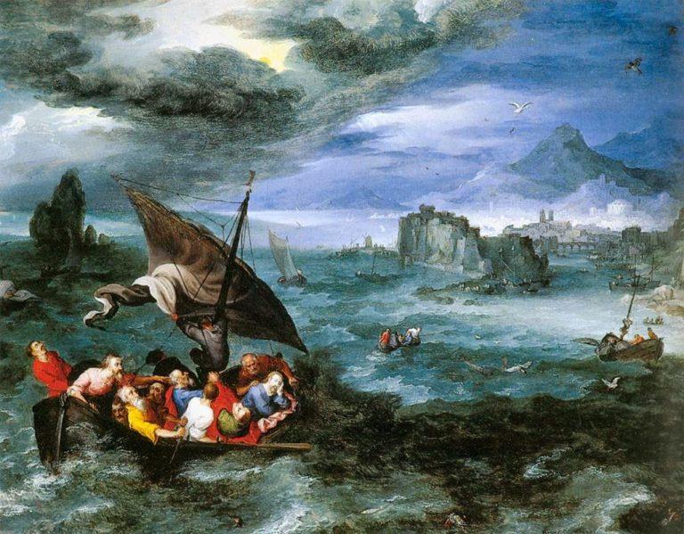 «Христос спит в лодке во время бури на Галилейском море» (1596)