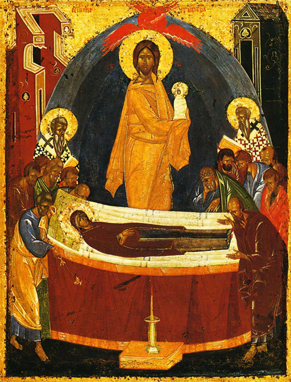 Икона Успения Пресвятой Богородицы. Феофан Грек. Конец XIV в.