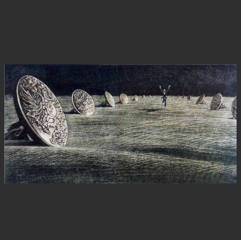 Иллюстрация к повести Н.В. Гоголя «Шинель». 1978-1981