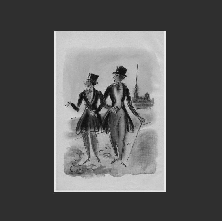 Иллюстрация к роману А.С. Пушкина «Евгений Онегин». 1933