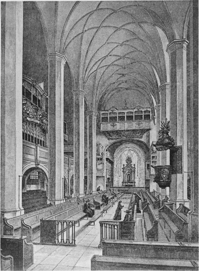 Интерьер церкви св. Фомы в XIX в. (до 1885)