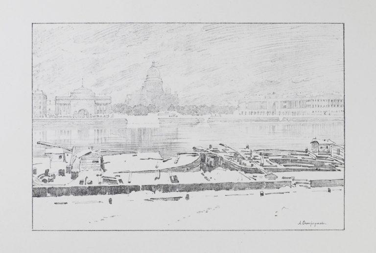 Исаакиевский собор в туманный день. 1922