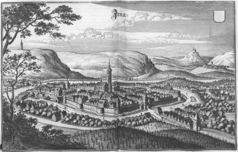 Йена в 1650 году. Гравер – Маттеус Мериан Старший (нем. Matthäus Merian the Elder; 1593–1650)