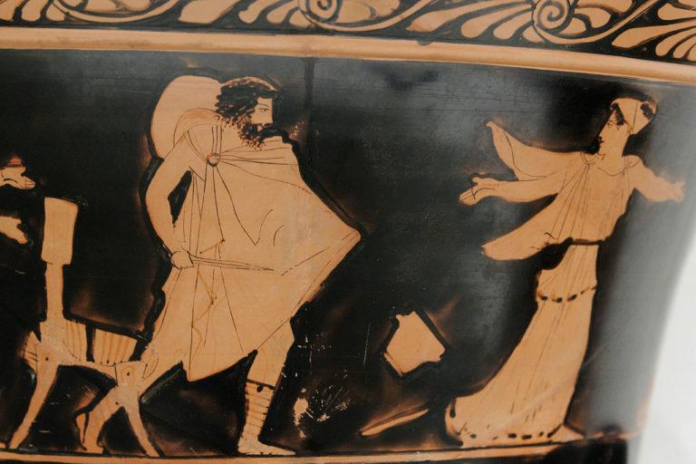 Кирка (Цирцея) роняет чашу и убегает от Одиссея. Ок. 440 г. до н.э.