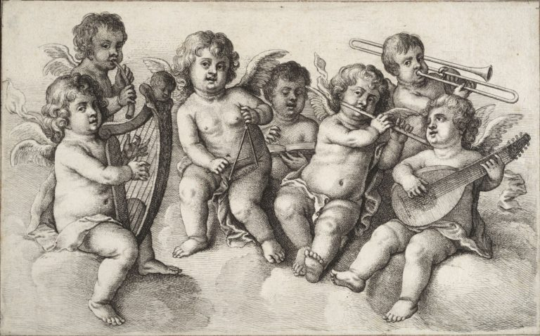 «Концерт херувимов в облаках» (Concert of Putti in the Clouds, ок. c. 1650)