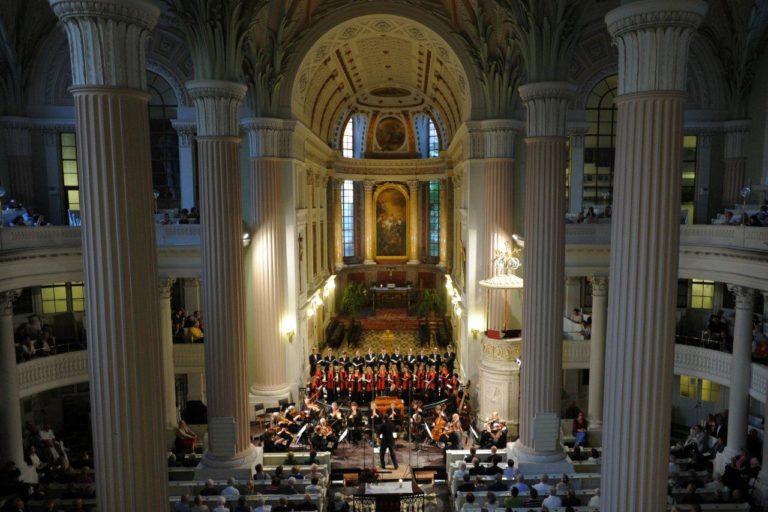 Концерт на баховском фестивале в церкви св. Николая в 2011 г.