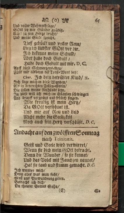 Лемс Г.Х. Либретто кантаты 35 (начало)
