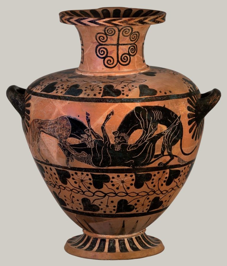 Львы пожирают быка (ок. 520-510 гг. до н.э.)