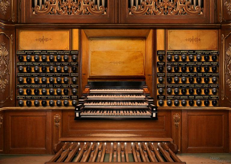 Мануалы голландского барочного органа 1741 г.