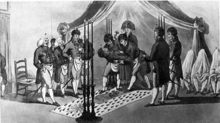 Масонский ритуал в начале XIX века