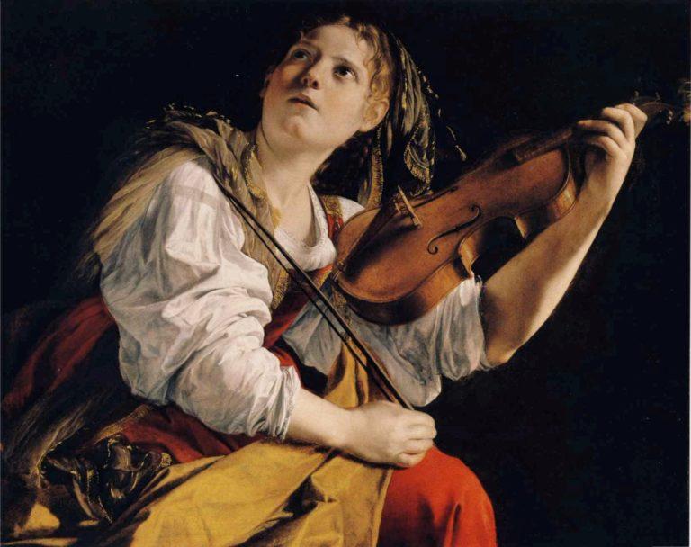 «Молодая женщина, играющая на скрипке» (ок. 1612)