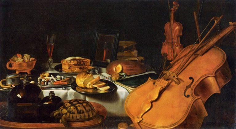 Натюрморт с музыкальными инструментами (1623)