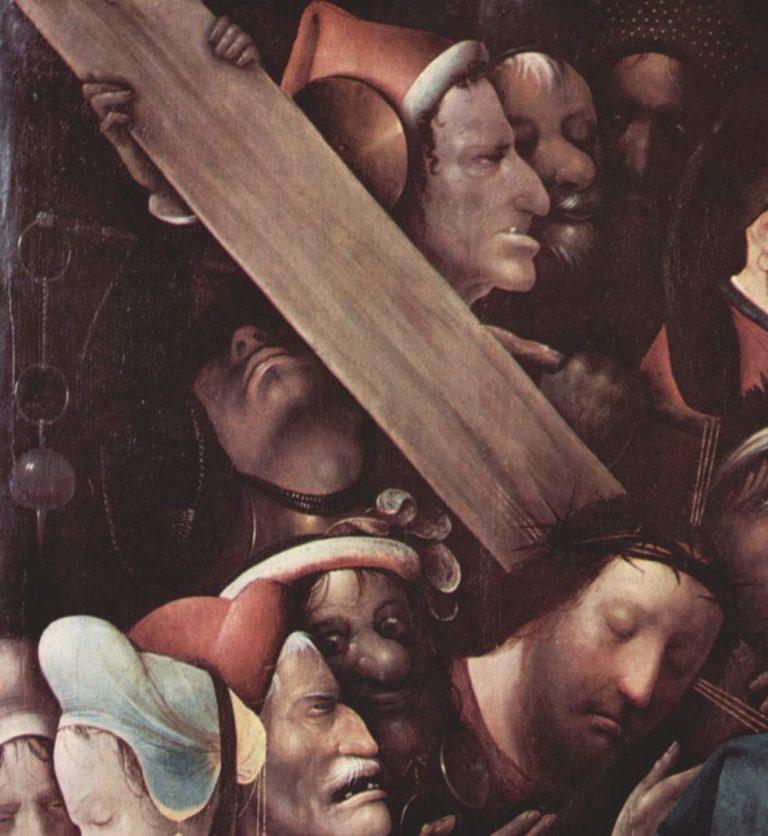 Несение креста. Деталь, левый верхний угол
